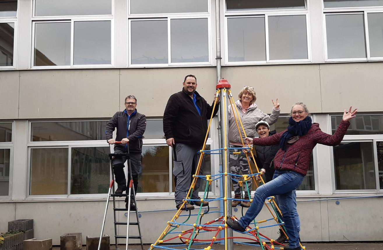 Neue Kletterspinne für die GRS+ Gerolstein